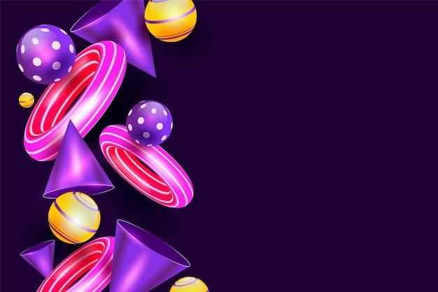 Градиентные геометрические обои с разными формами