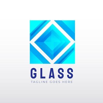 グラデーションガラスロゴテンプレートセット