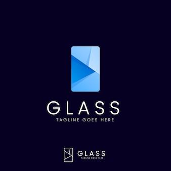 グラデーションガラスのロゴテンプレート