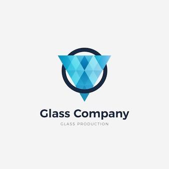 グラデーションガラスのロゴのテンプレート
