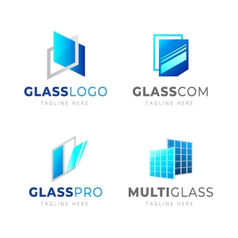 Modelli di logo in vetro sfumato