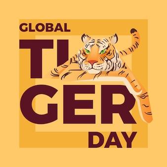 Gradient global tiger day illustration