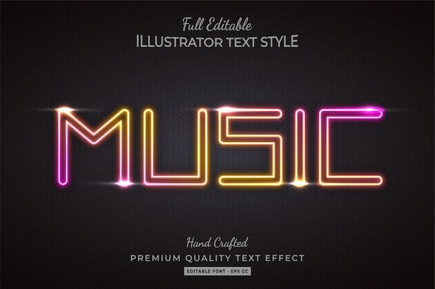 Gradient glow 3d text style effect premium