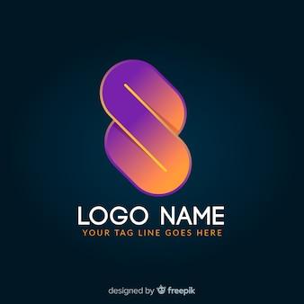 Gradient glowing colorful geometric logotype