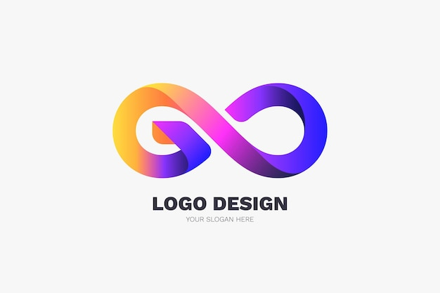 Gradient go logo template