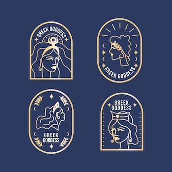 Коллекция логотипов градиентной богини
