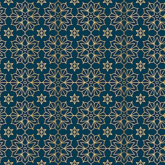 Gradient golden arabic pattern