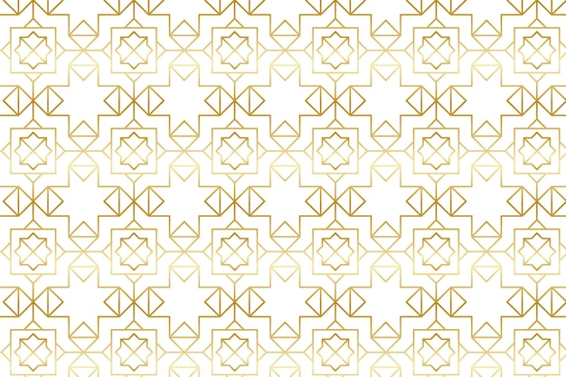 Gradient golden arabic pattern Free Vector