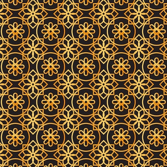 그라데이션 황금 아랍어 패턴
