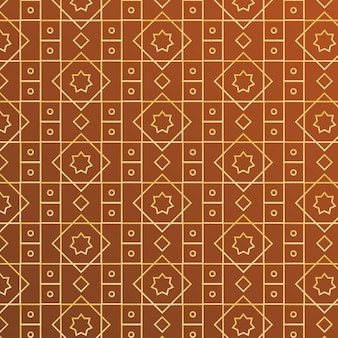 Gradient golden arabic pattern