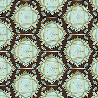 Градиент золотой арабский узор