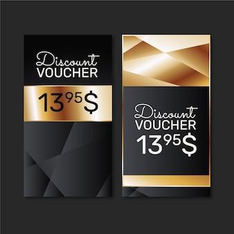 Gradient golden gift voucher banners
