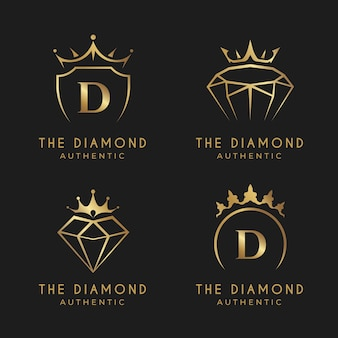 Gradient golden jewelry logo collection
