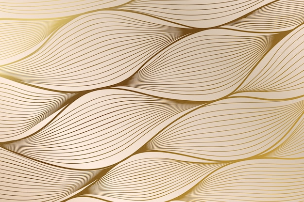 Sfondo lineare dorato sfumato con struttura astratta