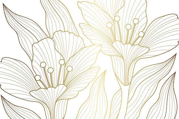 Gradient golden linear background