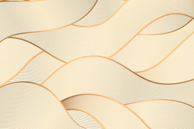 梯度金黄线性背景