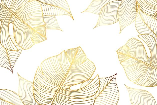 Sfondo lineare dorato sfumato