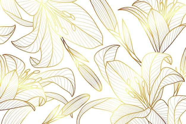 グラデーションの金色の線形背景