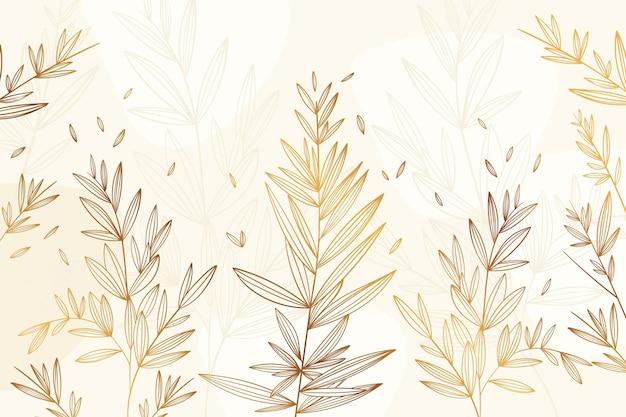 Градиент золотой линейный фон