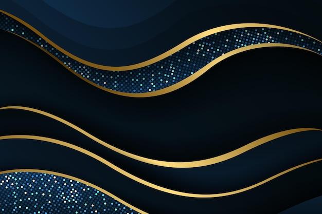 Градиент золотой роскошный фон с линиями
