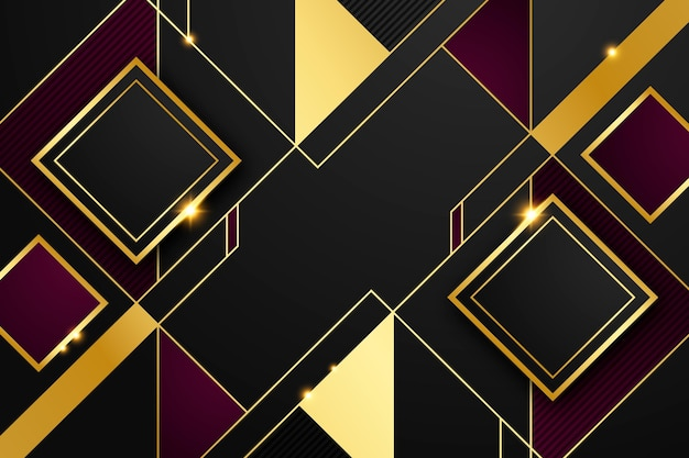 Gradient golden luxury background with squared