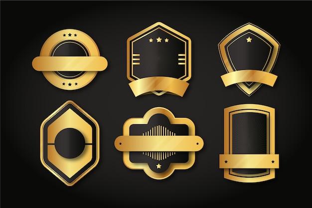 Distintivi di lusso dorati sfumati