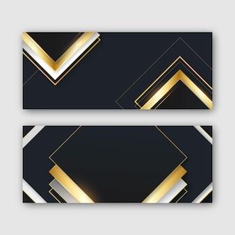 Gradient golden luxury banners