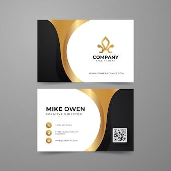 Золотые роскошные визитки с градиентом