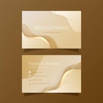 Gradient golden luxury business cards Free Vector