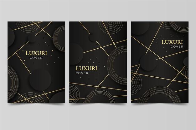 Set di copertine di lusso dorate sfumate