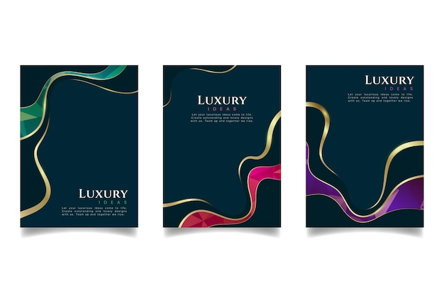 Gradient golden luxury covers collection