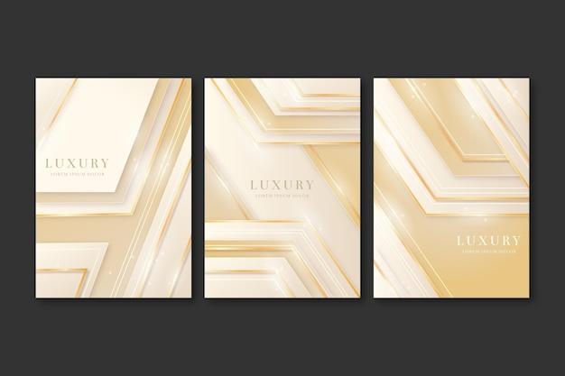 Collezione di copertine di lusso dorate sfumate