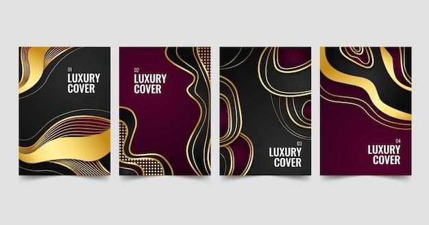 Gradient golden luxury covers