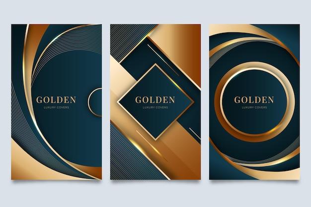 Copertine di lusso dorate sfumate