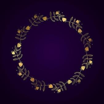 Modello di cornice di lusso dorata sfumata
