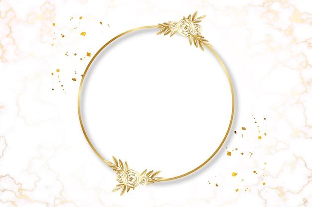 Gradient golden luxury frame template