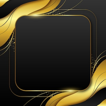 グラデーションゴールデンラグジュアリーフレームテンプレート