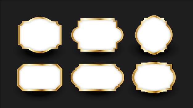 Градиентная золотая роскошная рамка