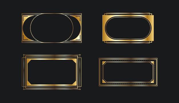 グラデーションゴールデンラグジュアリーフレーム