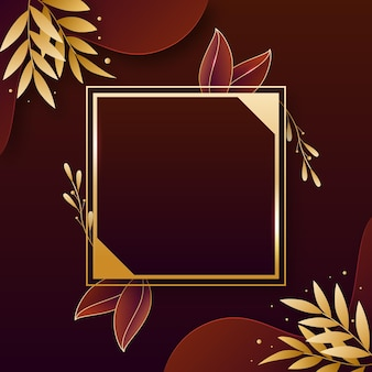 Cornice di lusso dorata sfumata