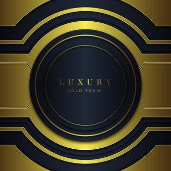 Gradient golden luxury frame