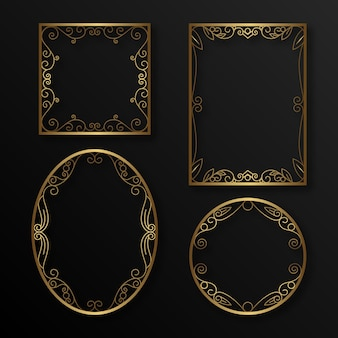 Gradient golden luxury frames collection