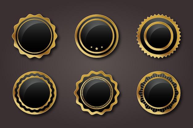 グラデーションゴールデンラグジュアリーラベルコレクション