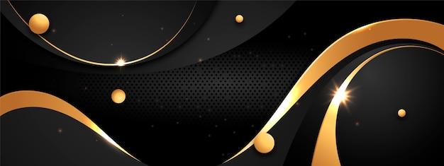 Шаблон обложки для социальных сетей с градиентным золотым дизайном