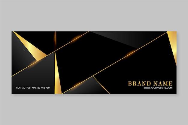 Gradient golden luxury social media cover template
