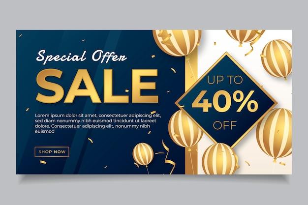 Gradient golden luxury social media post template