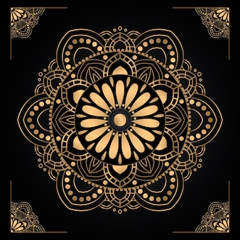 Градиентный золотой дизайн мандалы