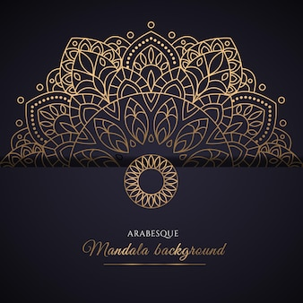 グラデーションの黄金の曼荼羅のデザイン