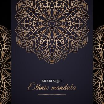 Gradient golden mandala design