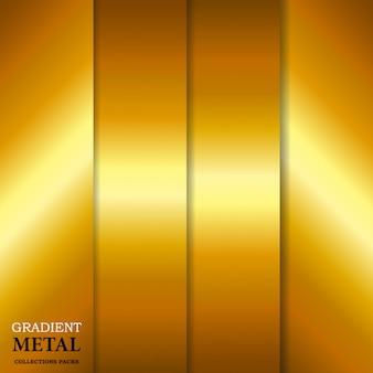 Gradient golden metal background